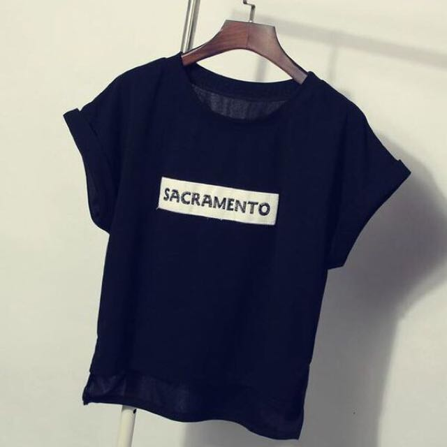 New Korean Simple Casual Letter Short Sleeve T-Shirt