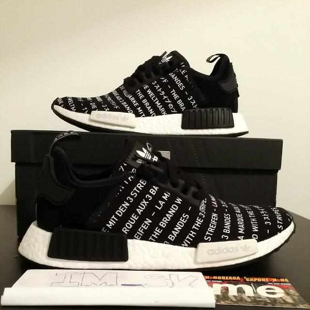 the best attitude 81d10 493bd NMD R1 blackout, Men's Fashion, Footwear on Carousell