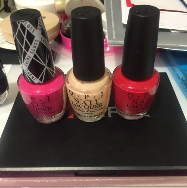 $5 For 3 O.P.I Nail Lacquer 15ml