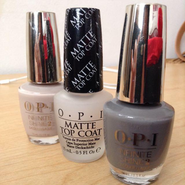 3pcs O.P.I nail laquers