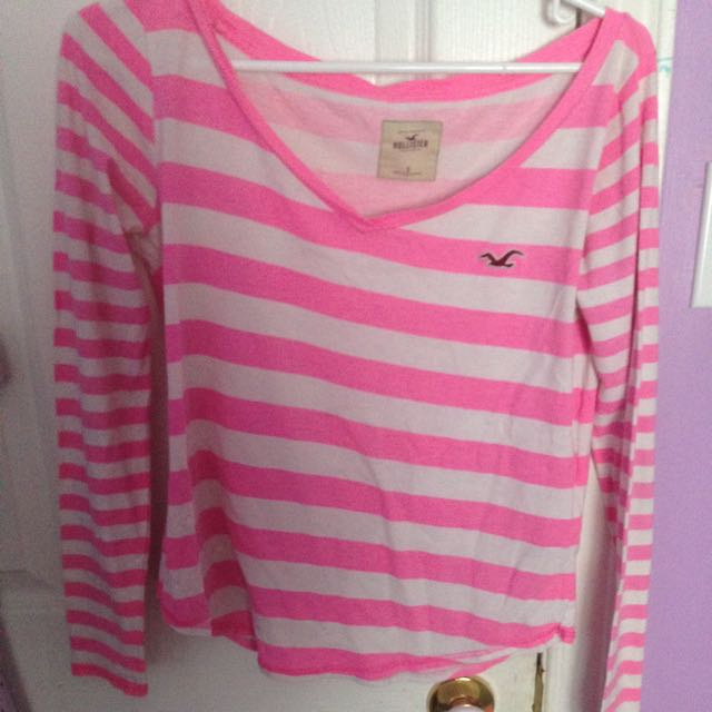 Pink And White Stripped Long Sleeve