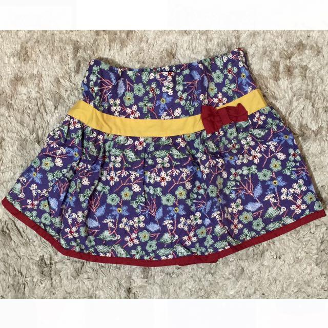 •Blue Floral Skirt