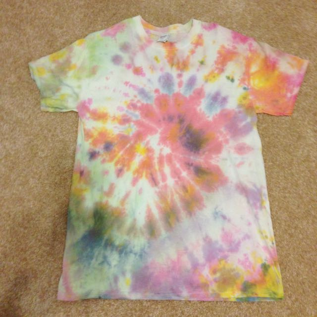 self tie dyed top
