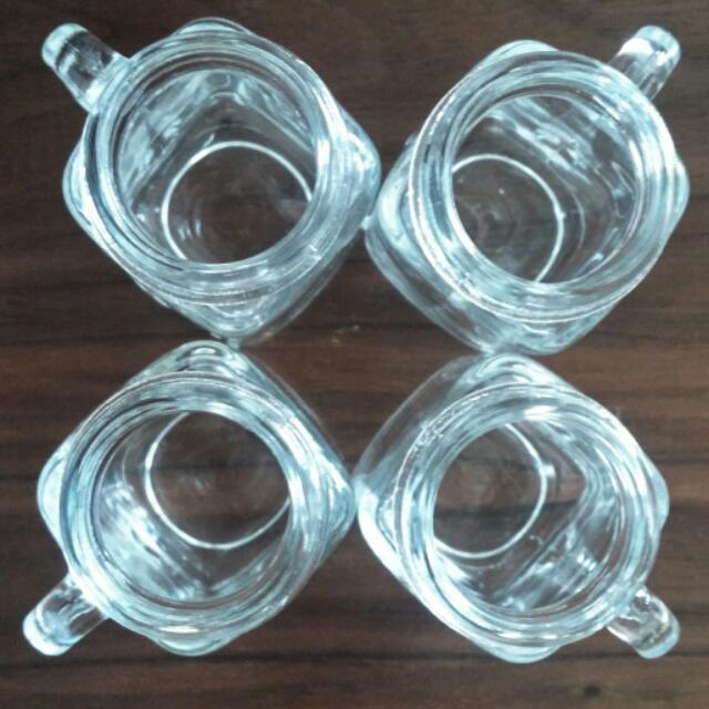 Set Of Four Rustic Mason Jar Shot Glasses