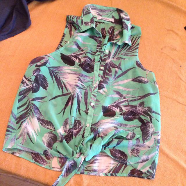 Sheer Button Up Shirt