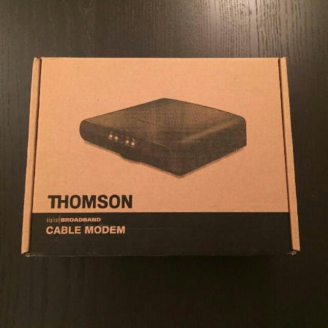 Thomson DCM476 Cable Modem With Adaptor