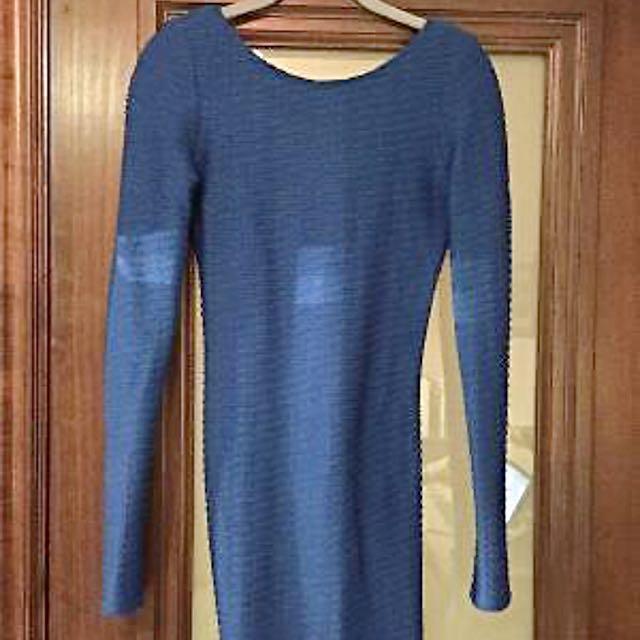 Victoria's Secret Royal Blue Stretchy Dress