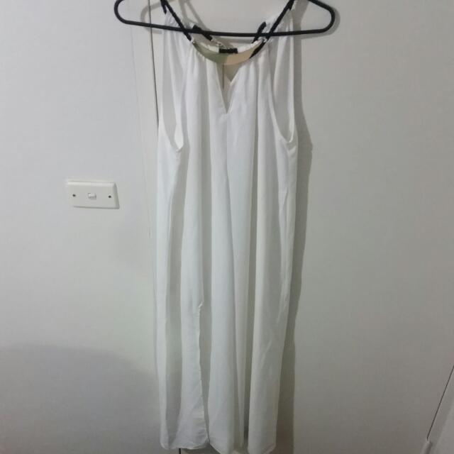 White Maxi Dress Size 8