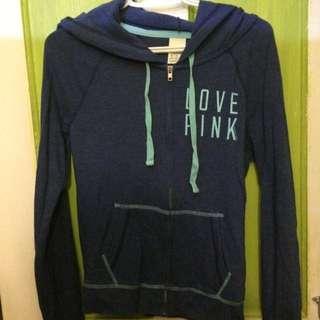 Navy/Teal Love Pink Hoodie Sweater
