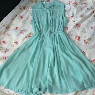 Mint Green Chiffon Dress