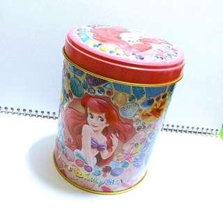 🌸日本帶回 迪士尼樂園 美人魚 比目魚 糖果餅乾鐵罐