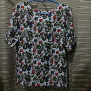 Khaki (Korean Brand) Floral Top