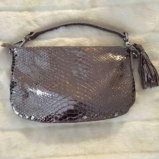 Python Print Metallic Handbag