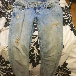Garage Light Wash Skinny Jeans