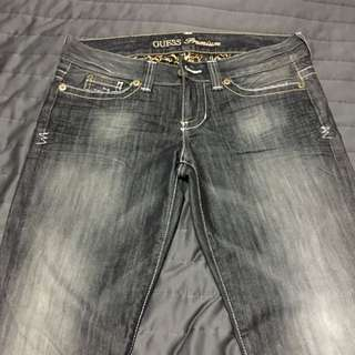 Guess Black Faded Jeans.