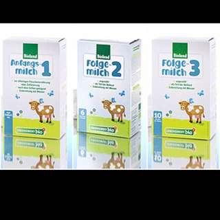 Lebenswert bioland Organic Infant Formula 1, 2 and 3 holle