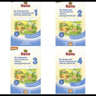Holle Organic Infant Formula Stage 1, 2, 3