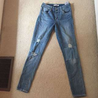 Levi High Waisted Jeans From Aritzia