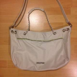 BCBG Cream Leather Purse