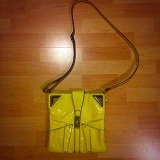 Jessica Simpson Yellow Leather Purse