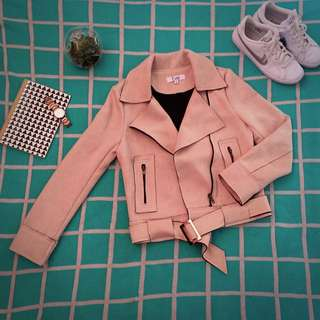 🎀Evie - Blush Suede Jacket