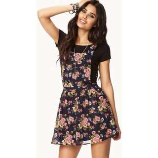 Overall Skirt Floral
