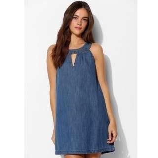 Denim Dress W/ Halter Top