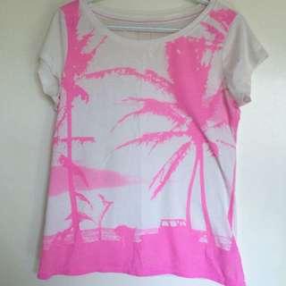 Pink Palm Tree Shirt