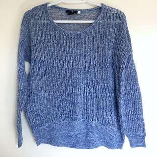 Blue Crochet Sweater