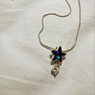 Authentic SWAROVSKI blue star necklace