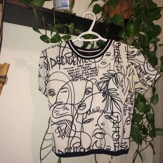 B&W Printed Shirt