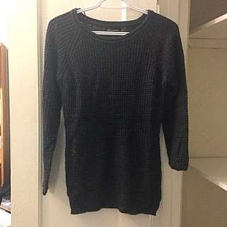 Size Small Dark Grey Knit Sweater