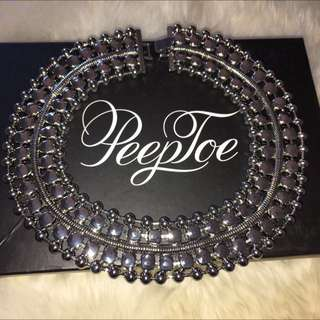 Peeptoe Silver Cleopatra Necklace