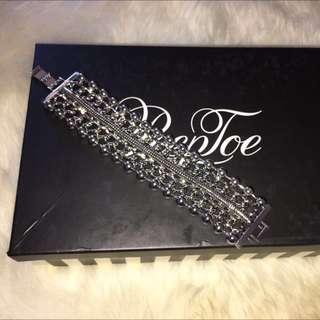 Peeptoe Bracelet Silver