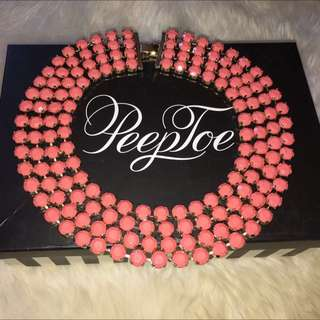 Peeptoe Peach Necklace