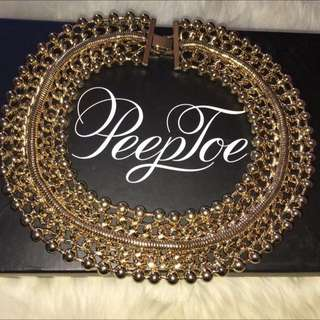Peeptoe Gold Necklace