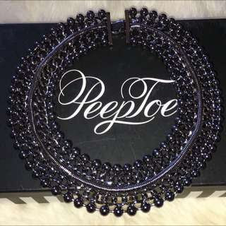 Peeptoe Necklace - Gunmetal Colour