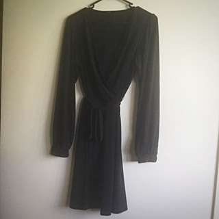 Tokito Black Long Sleeve Dress