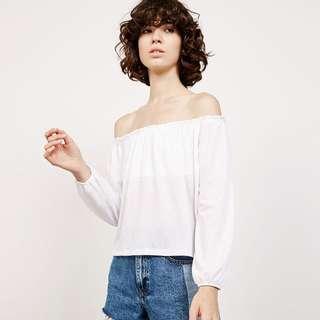 Bershka Off The Shoulder Cotton Top