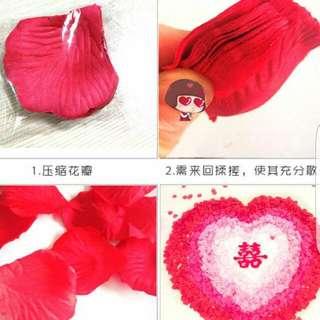 Silk Rose Petals - Fresh Red / Wine Red/ Hot Pink