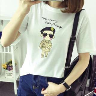 New Korean Summer Style Cartoon Printing T-Shirt