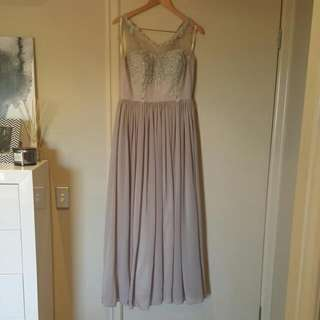 Long Grey Evening gown