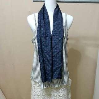 主婦二手日貨 YSL造型絲巾 領巾 長巾 義大利製