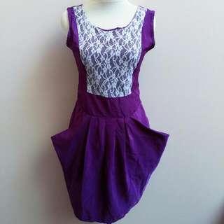 Purple Wing Dress
