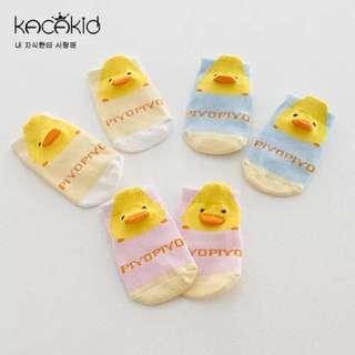 👑黃色小鴨立體嬰兒襪👑