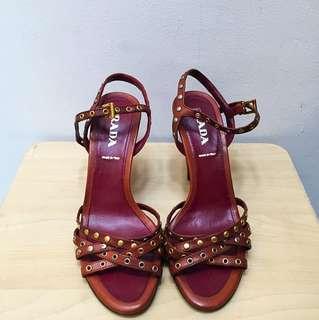 Vintage Prada Studded Heels NEVER BEEN WORN