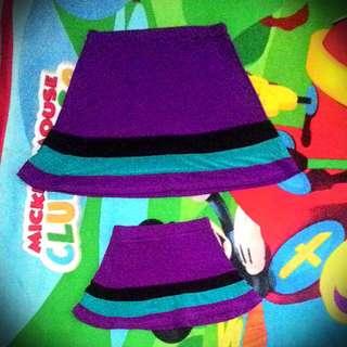 purple skirt mom and daughter terno