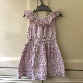 Girl's Floral Off-shoulder Dress