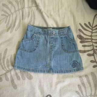 Toddler's Mini Skirt ( Light Denim)