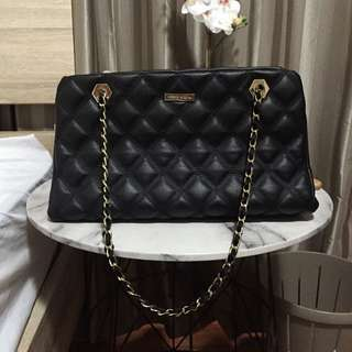 Charles and Keith Quilted Chain Shoulder Bag